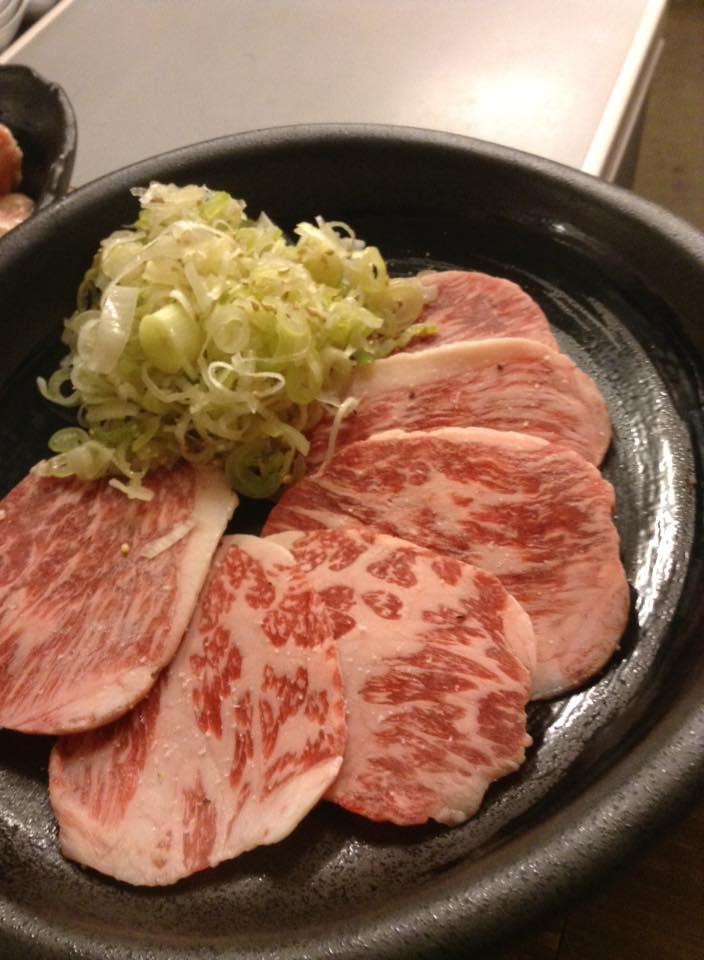 和牛カルビ薄切りの味付けネギバージョン